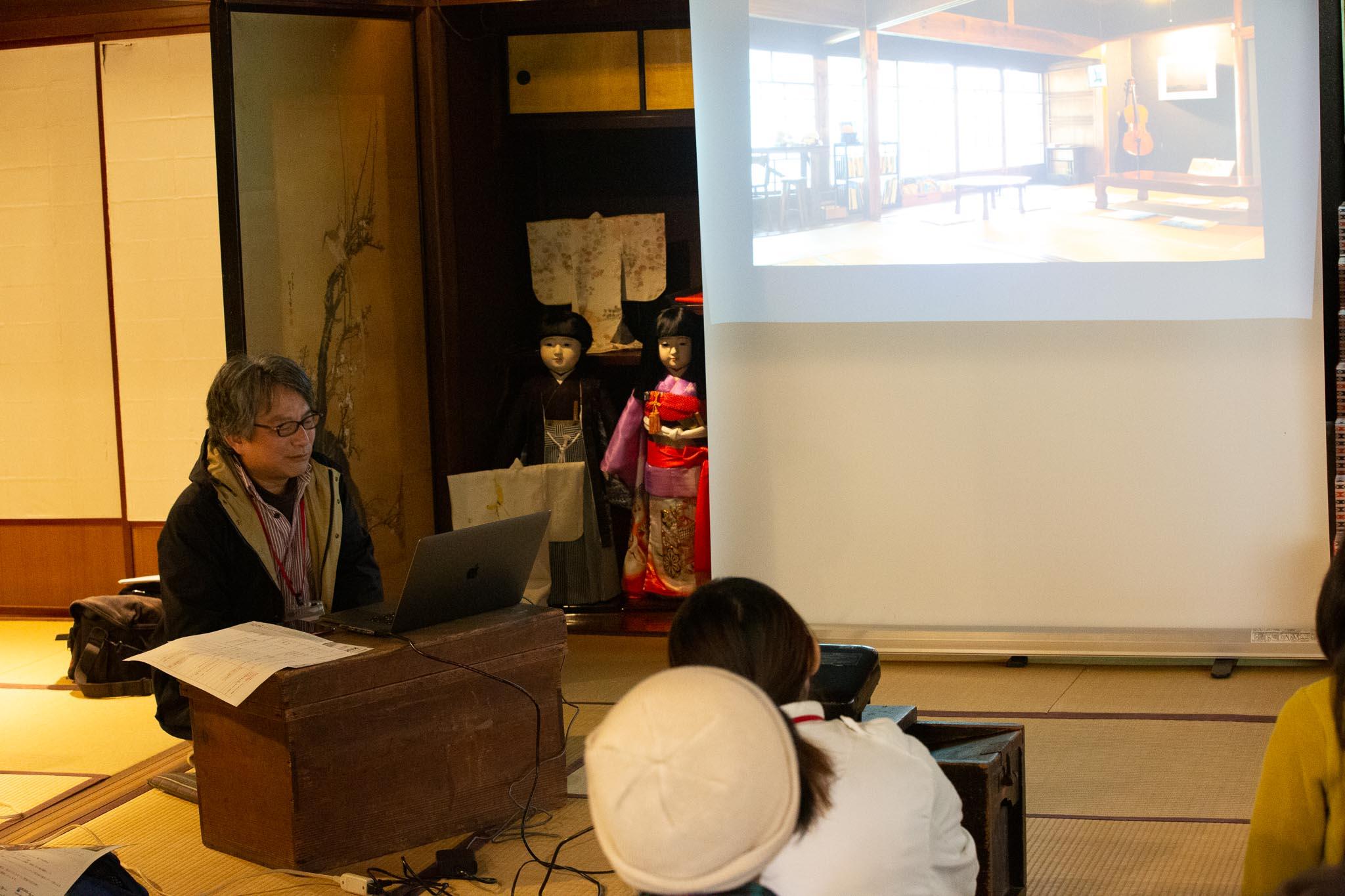 熊野まち歩き撮影講座(座学中)