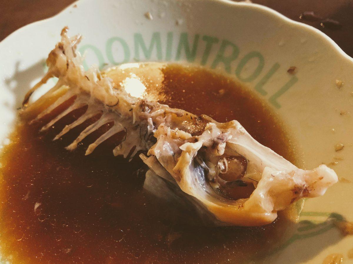 食い尽くされた鯛の骨