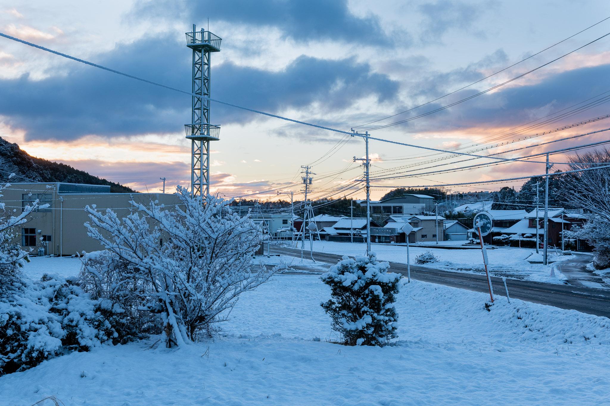 2020.12.31三重県津市美里町雪景色の朝