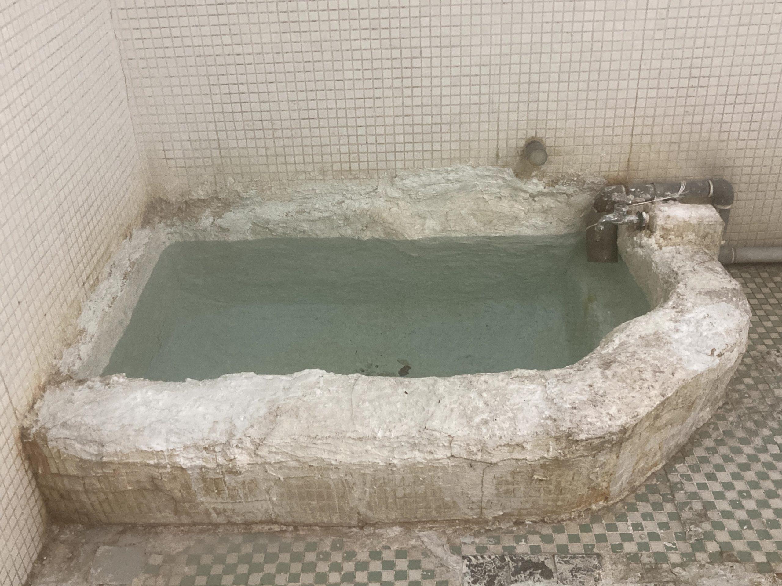 2021年元旦三重県松阪市花岡温泉浴槽