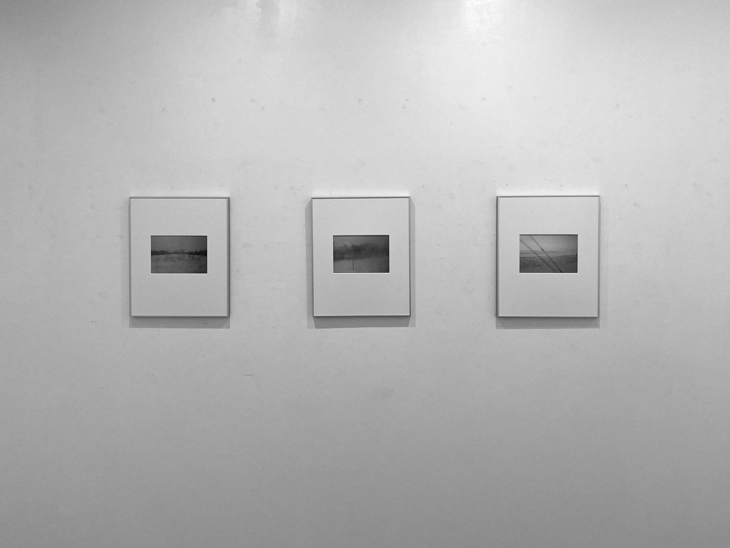 2021年2月 写真展「白冬」gallery176会場写真